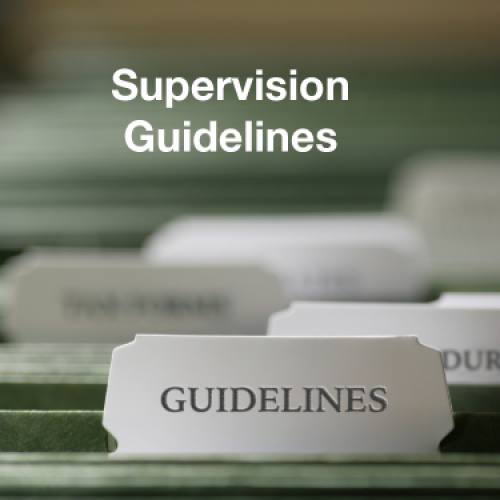 Supervision Guidelines